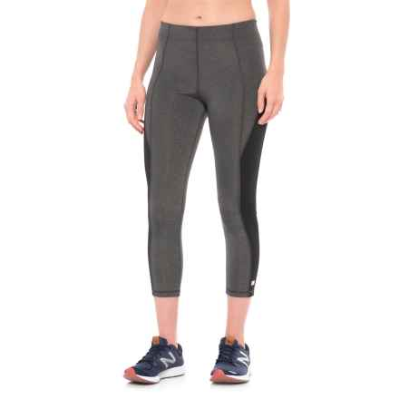 Aurum Mindfulness Crop Leggings (For Women) in Grey - Closeouts