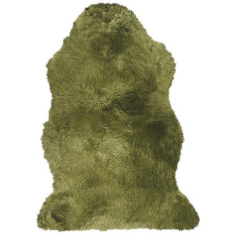 Auskin Brights Longwool Sheepskin Single Pelt Rug in Aegean