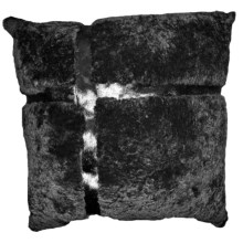 "Auskin Cowhide and Sheepskin Pillow - 20"" in Charcoal - Closeouts"