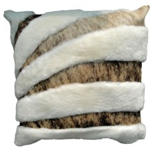 "Auskin Cowhide and Sheepskin Pillow - 20"" in Natural - Closeouts"