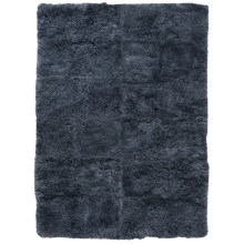 Auskin Curly Longwool Sheepskin Area Rug - 5'6x8' in Charcoal - Closeouts