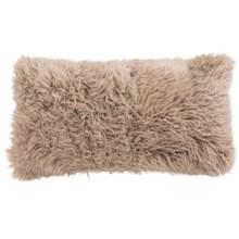 """Auskin Curly Longwool Sheepskin Pillow - 11x22"""" in Sandalwood - Overstock"""