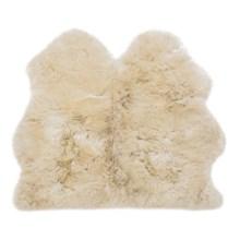 Auskin Longwool Sheepskin Double Pelt Rug - 3x3' in Linen - Overstock