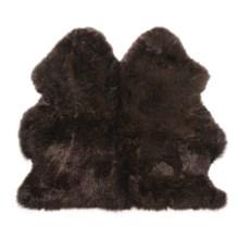 Auskin Longwool Sheepskin Double Pelt Rug - 3x3' in Chocolate - Overstock