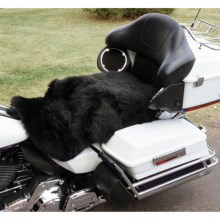 Auskin Longwool Sheepskin Motorcycle Seat Cover in Black - Overstock