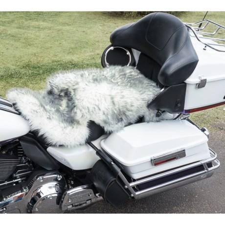 Auskin Longwool Sheepskin Motorcycle Seat Cover in Grey Mist