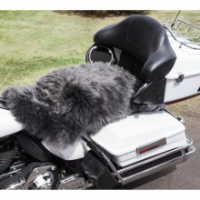 Auskin Longwool Sheepskin Motorcycle Seat Cover in Steel - Overstock