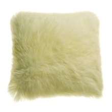 "Auskin Longwool Sheepskin Pillow - 18"", Square in Ivory - Closeouts"