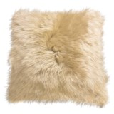 "Auskin Longwool Sheepskin Pillow - 18"", Square"