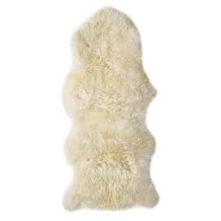 "Auskin Longwool Sheepskin Woodlands Oversized Pelt Rug - 24x52"" in Ivory - Overstock"