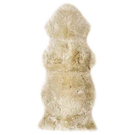 "Auskin Longwool Sheepskin Woodlands Oversized Pelt Rug - 24x52"" in Tan - Overstock"