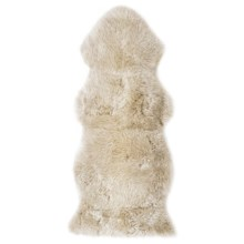 Auskin Longwool Sheepskin Woodlands Oversized Pelt Rug in Linen - Overstock