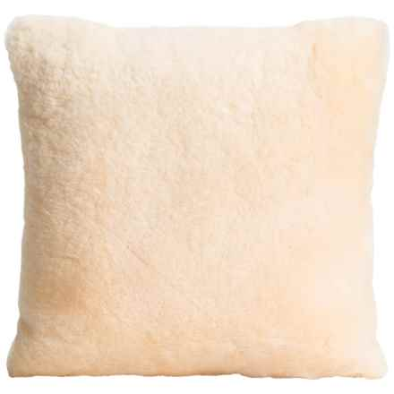 "Auskin Shearling Decor Pillow - 14x14"" in Cream - Overstock"