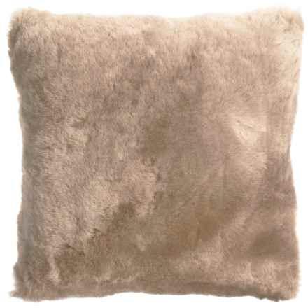 "Auskin Shearling Decor Pillow - 14x14"" in Honey - Overstock"