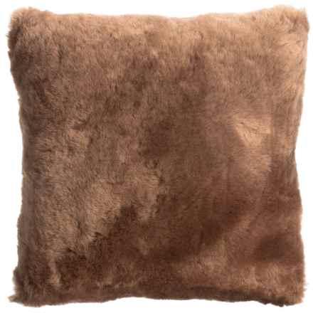 "Auskin Shearling Decor Pillow - 14x14"" in Latte - Overstock"