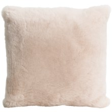 "Auskin Shearling Decor Pillow - 14x14"" in Oatmeal - Overstock"