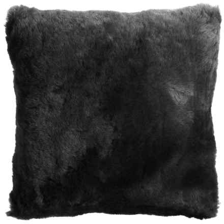 "Auskin Shearling Decor Pillow - 14x14"" in Storm - Overstock"