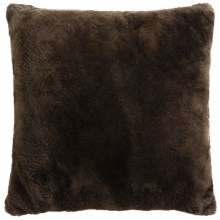 "Auskin Shearling Pillow - 24x24"" in Coffee - Closeouts"