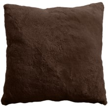 "Auskin Sheepskin Decor Pillow - 24x24"", Curly Shortwool in Coffee - Closeouts"