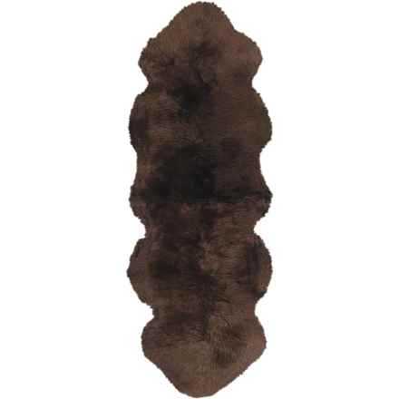 "Auskin Sheepskin Longwool Double Pelt Runner - 71x24"" in Chocolate - Overstock"