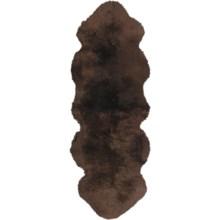 Auskin Sheepskin Longwool Double Pelt Runner in Chocolate - Overstock
