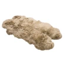 Auskin Sheepskin Longwool Rug - Four Pelt in Linen - Overstock