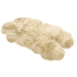 Auskin Sheepskin Longwool Rug - Four Pelt in Chocolate