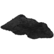 Auskin Sheepskin Longwool Rug - Single Pelt in Black - Overstock