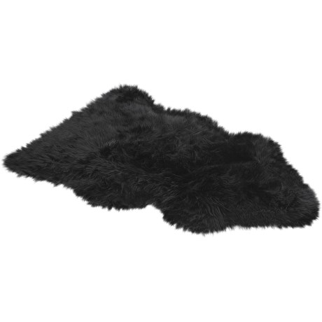 Auskin Sheepskin Longwool Rug - Single Pelt in Black