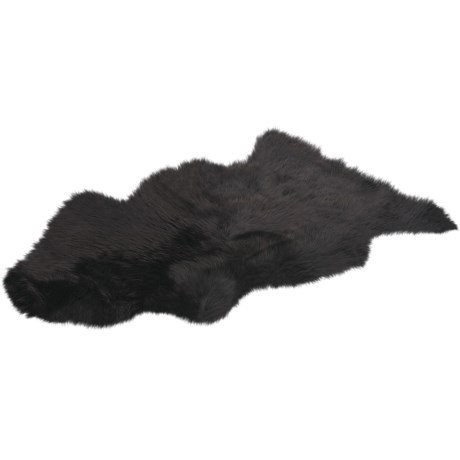 Auskin Sheepskin Longwool Rug - Single Pelt in Chocolate