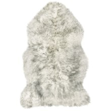 Auskin Sheepskin Longwool Rug - Single Pelt in Grey Mist - Overstock