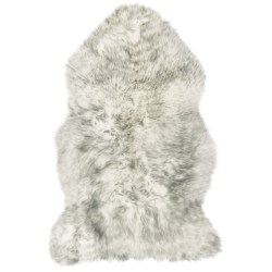 Auskin Sheepskin Longwool Rug - Single Pelt in Ivory