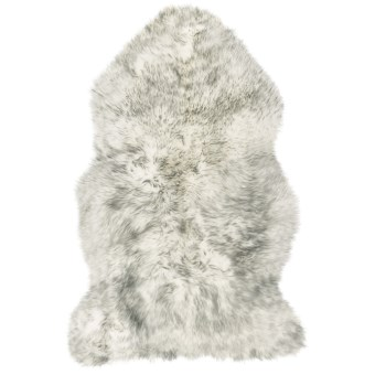 Auskin Sheepskin Longwool Rug - Single Pelt in Grey Mist