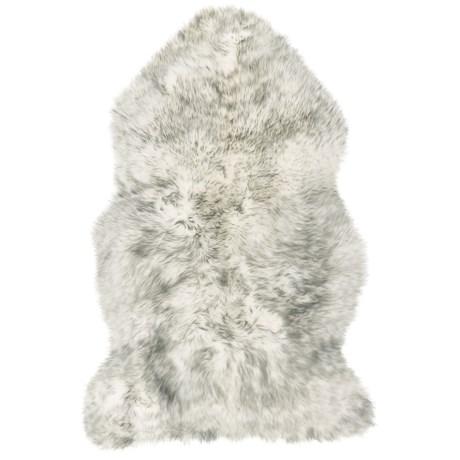 Auskin Sheepskin Longwool Rug - Single Pelt in Ivory