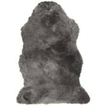 Auskin Sheepskin Longwool Rug - Single Pelt in Steel - Overstock