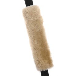 Auskin Sheepskin Seat Belt Cover in Charcoal Grey