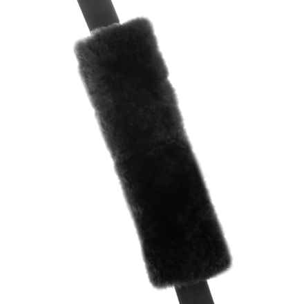 Auskin Sheepskin Seatbelt Cover in Black - Closeouts