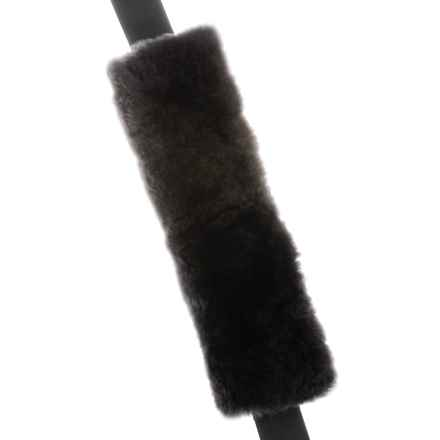 Auskin Sheepskin Seatbelt Cover in Charcoal Grey - Closeouts