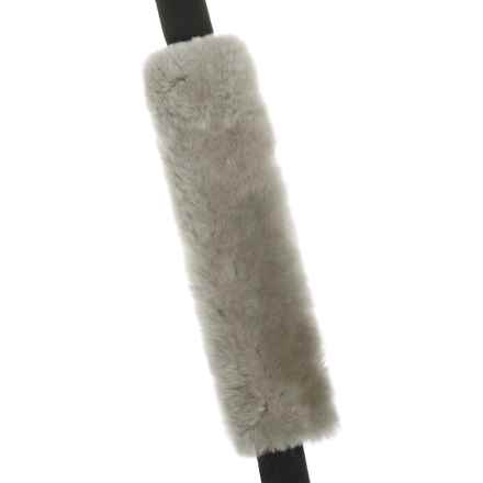 Auskin Sheepskin Seatbelt Cover in Grey - Closeouts