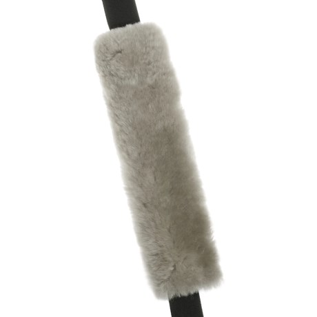 Auskin Sheepskin Seatbelt Cover in Charcoal Grey