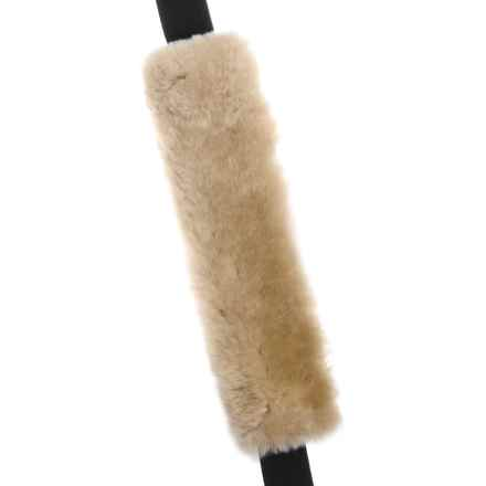 Auskin Sheepskin Seatbelt Cover in Honey - Closeouts
