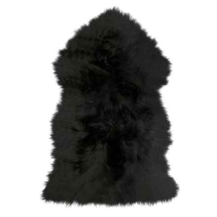 "Auskin Sheepskin Single Pelt Pet Rug - 37x24"" in Black - Overstock"