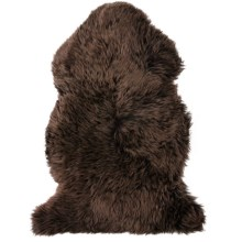 "Auskin Sheepskin Single Pelt Pet Rug - 37x24"" in Chocolate - Overstock"