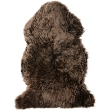 Auskin Sheepskin Single Pelt Pet Rug in Walnut - Overstock