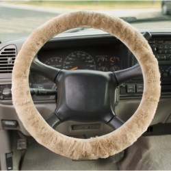 Auskin Sheepskin Steering Wheel Cover in Black