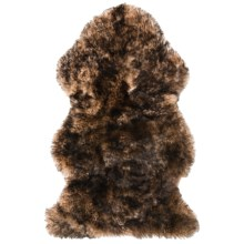 "Auskin Single-Pelt Longwool Sheepskin Rug - 39x23"" in Alder Tipped - Overstock"