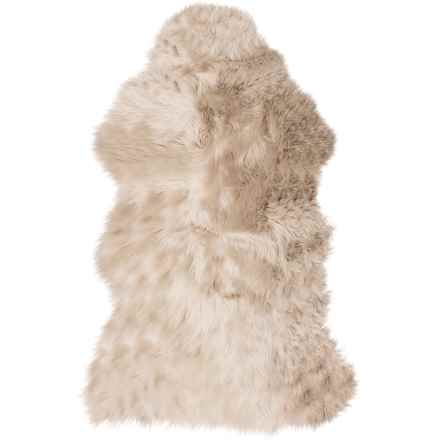 "Auskin Single-Pelt Longwool Sheepskin Rug- 39x25"" in Dark Linen - Overstock"