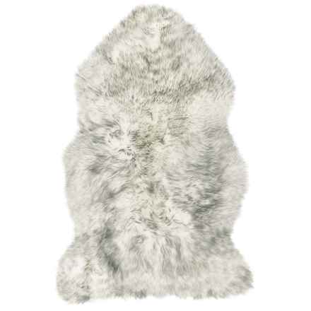 "Auskin Single-Pelt Longwool Sheepskin Rug- 39x25"" in Grey Mist - Overstock"