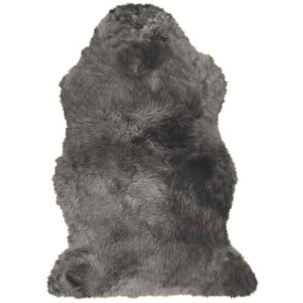 "Auskin Single-Pelt Longwool Sheepskin Rug- 39x25"" in Steel - Overstock"