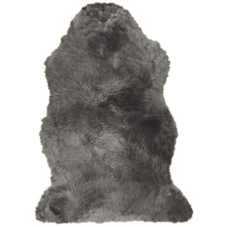 Auskin Single-Pelt Longwool Sheepskin Rug- 39x25""